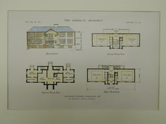 Floor Plans for the Glendale School in Glendale MO, 1915. William B. Ittner. Original
