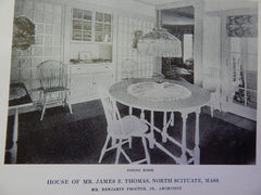 House of Mr. James E.Thomas,Interior, North Scituate,MA,1914,Lithograph. B. Proctor, Jr.