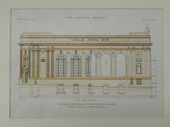 Dollar Savings Bank, Willis Avenue, New York, NY, 1919, Original Plan. Renwick, Aspinwall & Tucker.