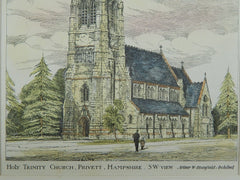 Holy Trinity Church in Privett, Hampshire, England, 1882. Arthur W. Blomfield. Original