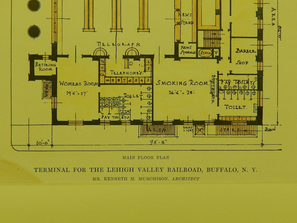 Terminal For Lehigh Valley Rr Buffalo Ny 1915