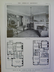 House of Mrs. Lawrence Myers, San Francisco, CA, 1914 Lithograph, Schnaittacher.