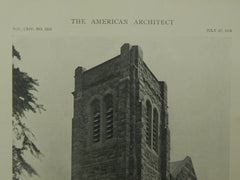 Exterior, Westminster Presbyterian Church, Portland, OR, 1918, Lithograph. Lawrence & Holford.