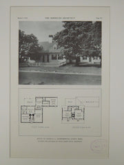 House of Charles G. Eichenberger, Egypt, MA, 1929, Lithograph. Royal Barry Wills.