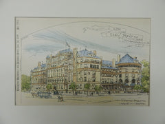 The De Soto, Savannah, GA, 1890. Original Plan. Wm Gibbons Preston.
