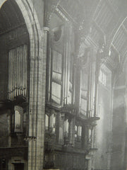 Chapel of the Intercession, New York, 1914. Early Photograph. Cram, Goodhue, & Ferguson.