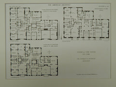 Number 471 Park Avenue, New York, NY, 1909, Original Plan. Charles W. Buckham.