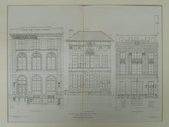 Three Branches, Public Library, New York, NY, 1905, Original Plan. W.B. Tubby&Bro.