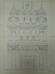 Electric Tower Shaft Detail, Pan-American Exposition, Buffalo, NY, 1901, Original Plan. John Galen Howard.