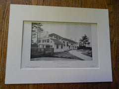 House of Samuel Cabot, ESQ., Canton, MA,1905,Lithograph. Winslow & Bigelow.