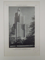 Industrial Turst Co., Providence, RI, 1929, Lithograph. Walker & Gillette.