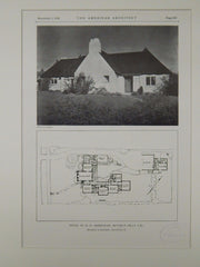 House of M. D. Armistead, Beverly Hills, CA, 1928, Lithograph. Witmer & Watson