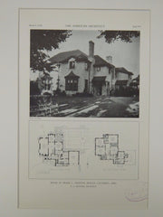House of Frank L. Griffith, Bexley, Columbus, OH, 1929, Lithograph. R.G. Hanford.