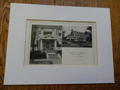 House of R.G. Jones, ESQ., Newton Centre, MA, Lithograph,1914. Mr. R. W. Power.