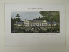 Club House, Philadelphia Motor Speedway, Horsham, PA, 1916, Original Plan. Heacock & Hokanson.
