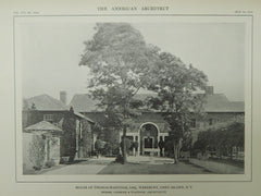 House of Thomas Hastings, Westbury, NY, 1914, Lithograph. Carrere & Hastings.