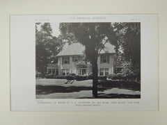 Alterations to House of O. L. Schwenke, Bay Shore, NY, 1919, Lithograph. Dwight James Baum.