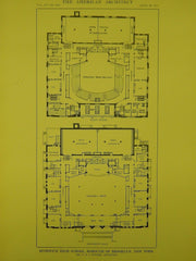 Elevation & Section, Morgan & Wright Building, Detroit, MI, 1914, Original Plan. Albert Kahn.