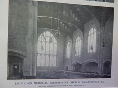 Richardson Memorial Presbyterian Church,Philadelphia,PA,1914,Lithograph. Bolton & Sons.