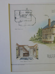 Home for Mr. E.B. Hedges, Westfield, MA, 1901, Original Plan. Cadwell&Crabtree.