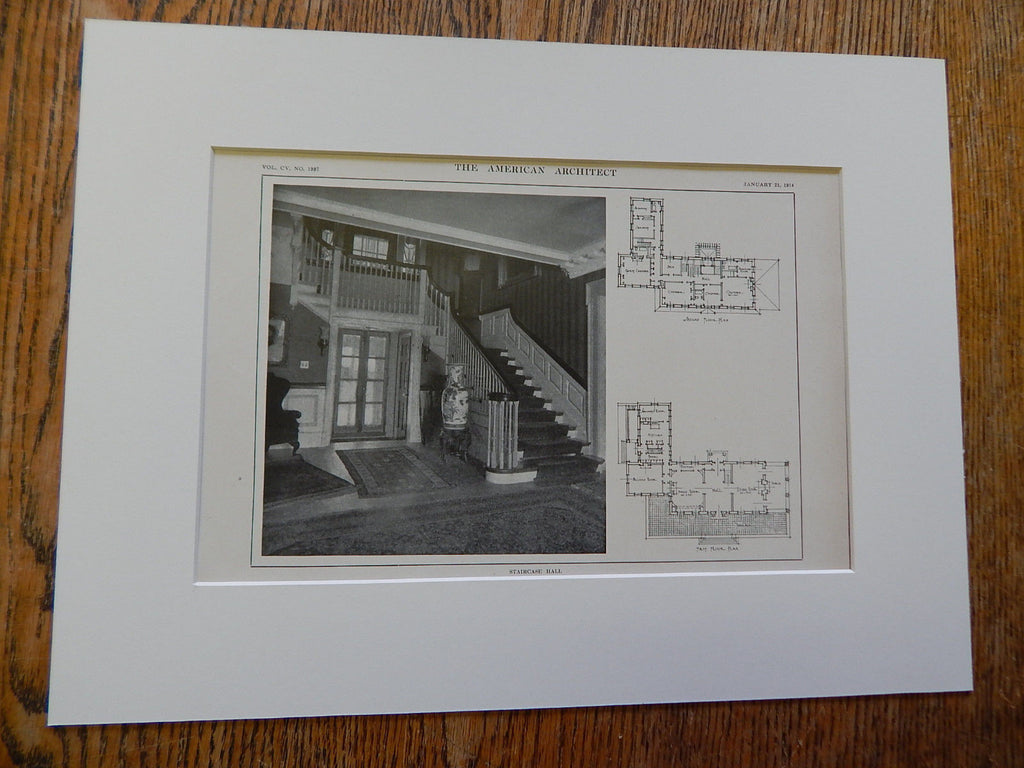 """Windham"" Estate of Mrs. R. White Steel,Bryn Mawr, PA, Lithograph,1914. Mr. Percy Ash."