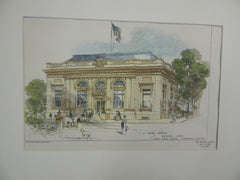 US Post Office, Boone, IA, 1903, Original Plan. James Knox Taylor.