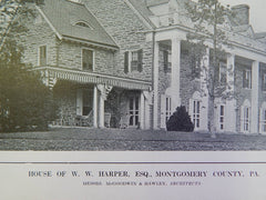 House of W. W. Harper, Montgomery County, PA, 1914, Litho., McGoodwin & Hawley.