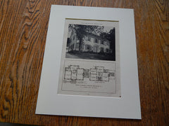 House of Harold S. Graham Englewood, NJ, Lithograph,1926. R.C. Hunter & Bros.