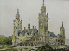 Design for the Peace Palace in The Hague, Holland, 1906. L. M. Cordonnier