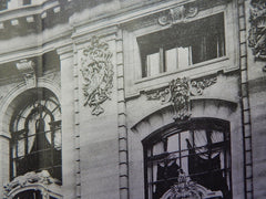 Detail of Facade: Club-House New York Yacht Club,NY,1901, Lithograph. Warren & Wetmore.