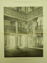 Corner of the Ball-Room, Sherry's, New York, NY, 1898, Gelatine Print. McKim, Mead & White.