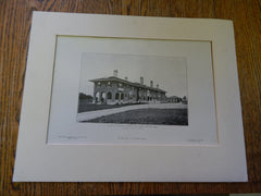 House of Richard S. Russell,ESQ, North Andover, MA, 1905, Lithograph. Machado.