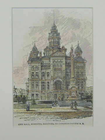 City Hall, Winnipeg, Manitoba, Canada, 1906, Original Plan.