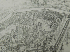 The Tower of London in the Time of Elizabeth, London, UK, 1904, Original Plan.