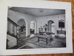 House For Mrs. Pearl Schechter, Mount Vernon, NY, 1929, Lithograph. Lewis Bowman.