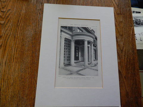 Alpha Tau Omega Fraternity House, Berkeley, CA, 1918, Lithograph. William C. Hays.