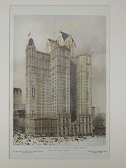 City Investing Co.'s Building, Broadway, New York, NY, 1906, Original Plan. Kimball.