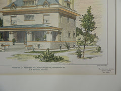 House for J.J. Matthews, Esq., N Negley Ave, Pittsburgh, PA, 1903, Original Plan. Bartberger.