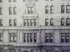 The Hotel Navarre, 7th Ave, 38th St, New York, NY, 1901, Lithograph. Barney & Chapman.