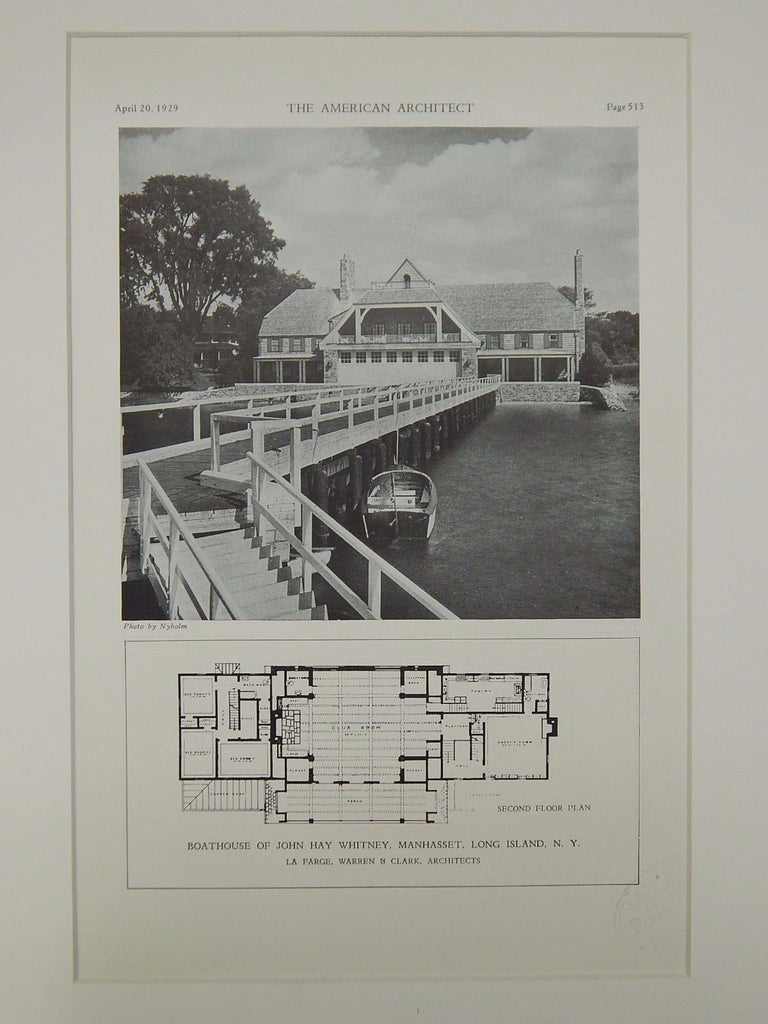 Exterior Boathouse Of John Hay Whitney Manhasset Ny 1929