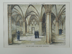 Lady Chapel at St. Mary Overie, Southwark, England, 1882. Charles A. Irwin. Original