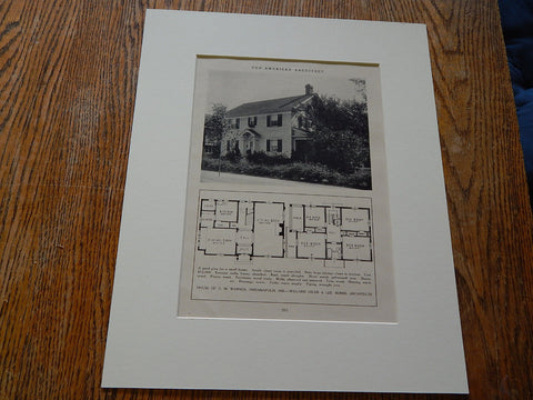 House of CM Warner, Indianapolis, IND, Lithograph,1926. William Osler & Lee Burns.