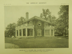 House of F. L. Palmer, Esq., Sailors Snug Harbor NY, 1916. Palmer, Hornbostel & Jones