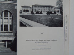 Brady Hall, Catholic Sisters' College, Washington, D.C, 1926. Murphy & Olmsted