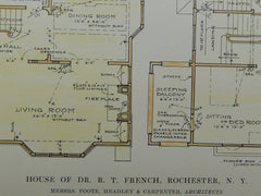 House of Dr. R. T. French in Rochester NY, 1915. Foote, Headley & Carpenter