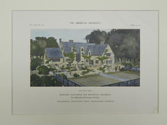 Garden of the Proposed Club-House for Princeton University, NJ, 1911. Day Brothers & Klauder