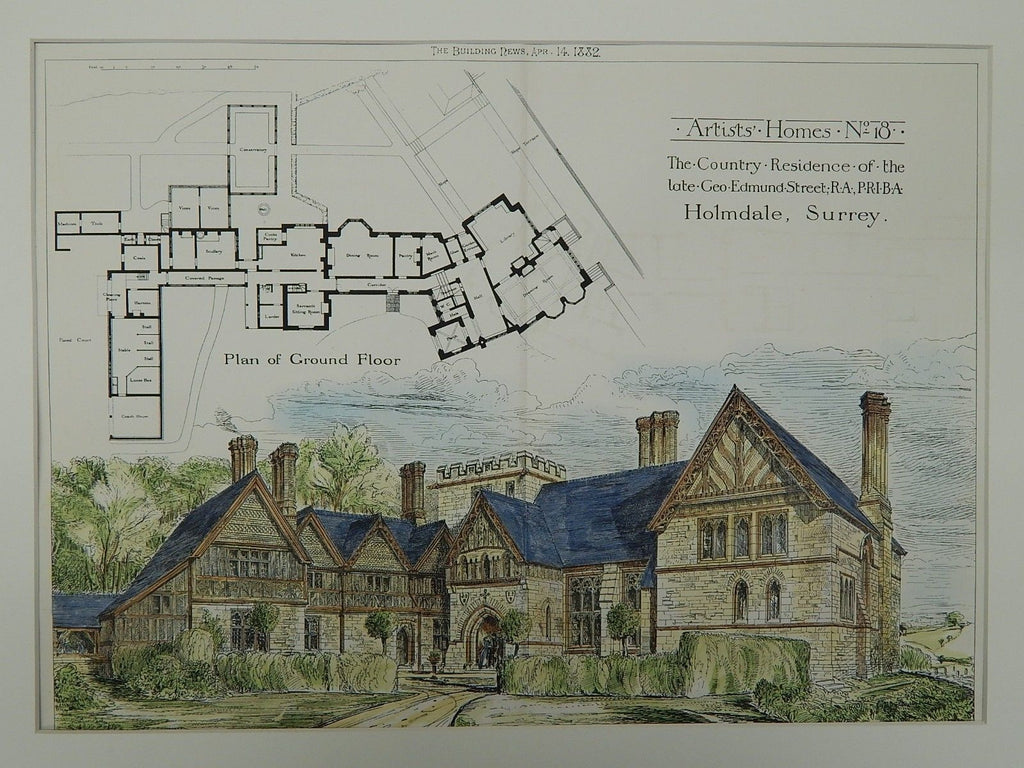 Country Residence of the late Geo. Edmund Street,Holmdale,England, 1882. Geo. Edmund Street