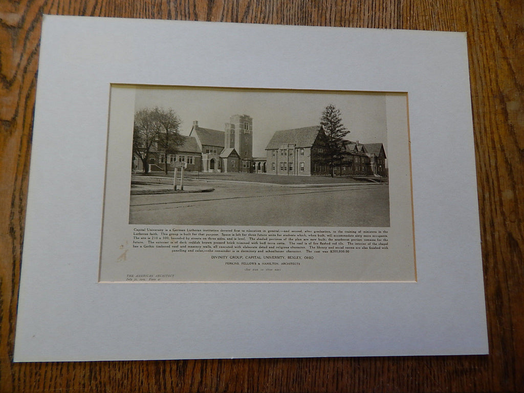 Divinity Group,Capital University,Bexley, OH, Lithograph,1924. Perkins, Fellows & Hamilton.