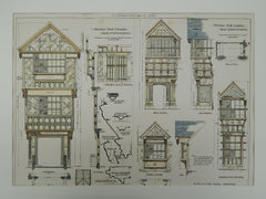 Moreton Hall in Cheshire, England, 1883. James Strong. Original Plan