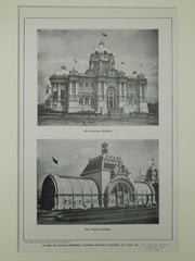 Government Buildings, Louisiana Purchase, St. Louis, MO, 1904, Lithograph.